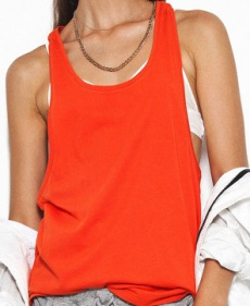 Super Dropped Armhole Tank Blood Orange