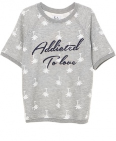 Loose Fit Raglan Sweater SS Addicted to Love