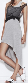 Cut up 3/4 dress grey
