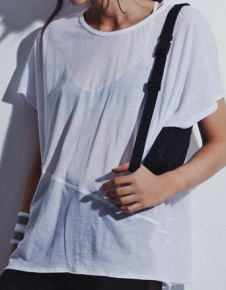 Oversized Sheer Tee - White