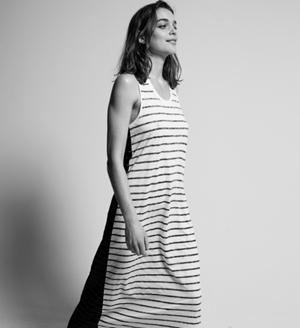 Zoe-Karssen- striped maxi dress